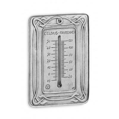 Termometro da parete in peltro cm 12x17 h