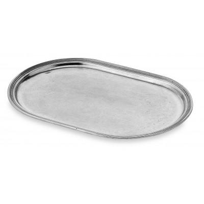 Vassoio ovale in peltro