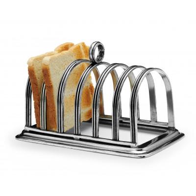 Porta toast in peltro cm 9x15,5 h 12
