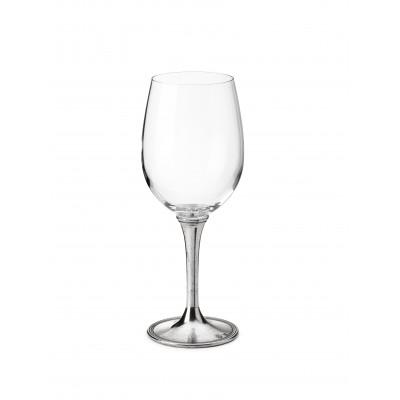 Bicchiere da degustazione vino bianco in peltro e vetro h 22,5 cm - 48 cl
