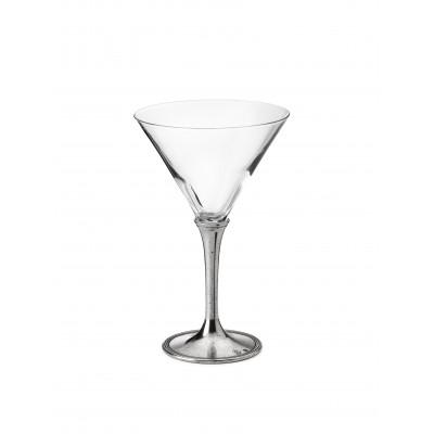 Bicchiere Cocktail in peltro e vetro h 19 cm - 30 cl