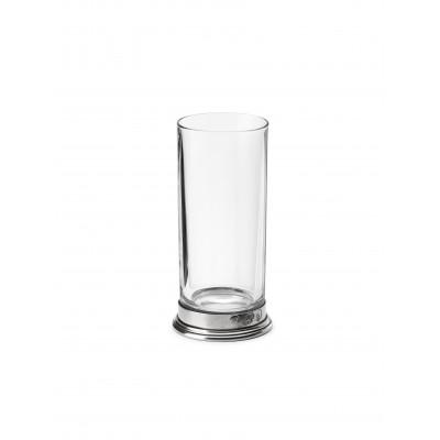 Bicchiere Hiball in peltro e vetro h 16,5 cm ø 8 cm