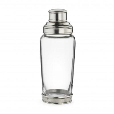 Shaker in vetro e peltro h 21,5 cm