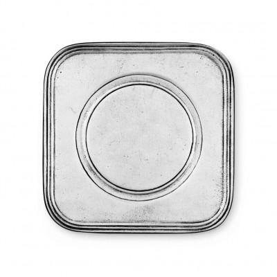 Sottobottiglia in peltro cm 11.5x11.5