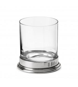 Bicchiere D.O.F. in peltro e vetro h 10 cm ø 9 - 33 cl