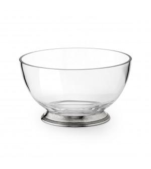 Ciotola per insalata in vetro e peltro ø 20 cm h 11