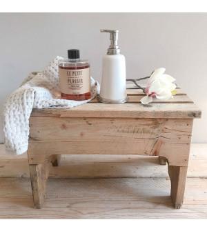 Dispenser sapone in peltro e ceramica con ricarica sapone profumo Ambra