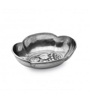 Ciotola ovale in peltro cm 16x19 h 5