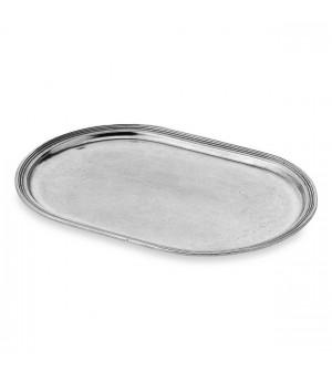 Vassoio ovale in peltro cm 18x28