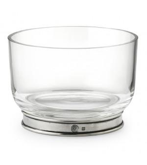 Ciotola ghiaccio in peltro e vetro ø 14,3 cm