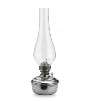 Lampada a petrolio in peltro h cm 26