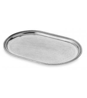 Vassoio ovale in peltro cm 26x39