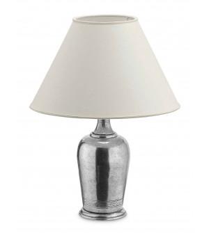 Lampada in peltro h cm 40 con paralume ø 30