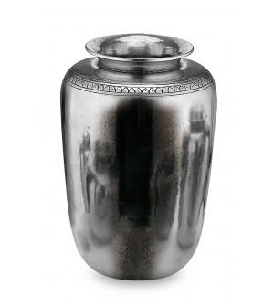 Vaso in peltro con greca cm 13x19