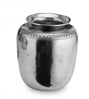 Vaso in peltro con greca cm 10x12
