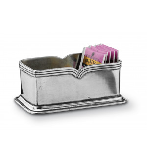 Porta bustine da tè in peltro cm 8,5x15x6