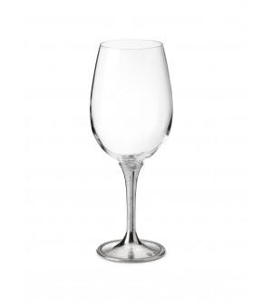 Bicchiere degustazione in peltro e vetro h 24 cm 59 cl