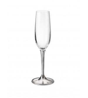 Bicchiere champagne in peltro e vetro h 25 cm - 21 cl