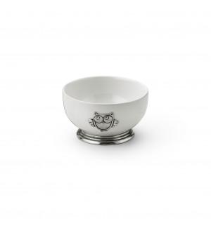 Baby tazza latte in peltro e ceramica ø cm 11,5 h cm 6,5