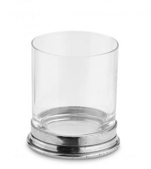 Bicchiere porta spazzolini in peltro 9 cm