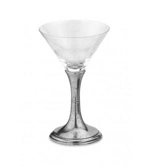 Bicchiere martini in peltro h cm 16,5 - 20 cl