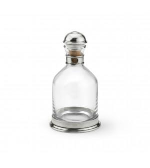 Bottiglia whisky in peltro e vetro h cm 25 ø cm 13,7