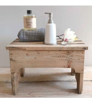 Dispenser sapone in peltro e ceramica con ricarica sapone profumo Fiori d'Arancio e Miele