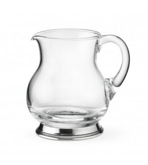 Brocca in vetro e peltro h 13,5 cm - 0,5L