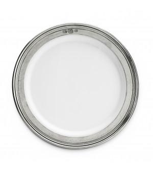 Piattino pane in peltro e ceramica ø 17,5 cm