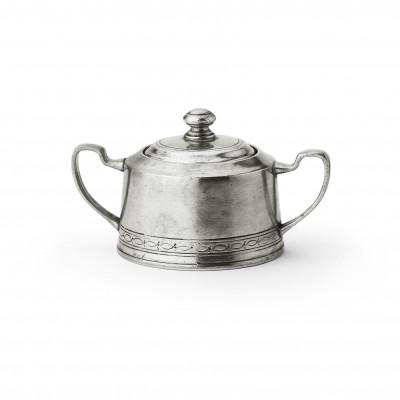 Pewter sugar bowl h cm 8