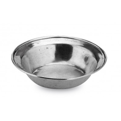 Pewter round bowl ø cm 16 h 3,5