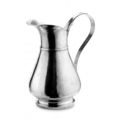 Pewter water jug h cm 30
