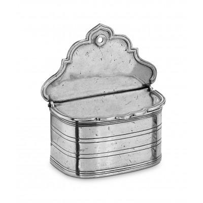 Pewter salt holder cm 11x12