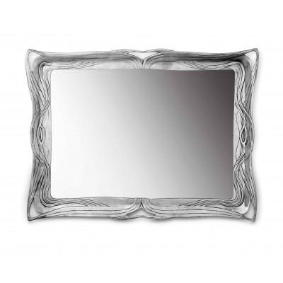 Pewter liberty wall mirror cm 32x42