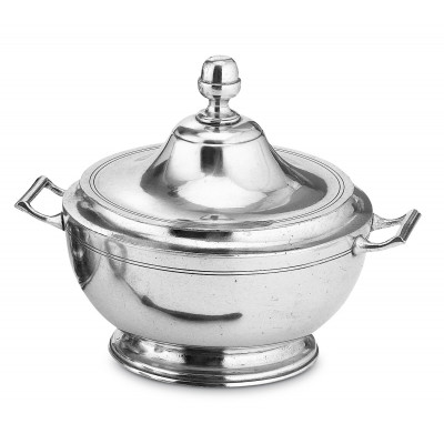Pewter soup tureen cm 24x24