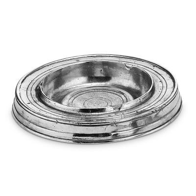 Pewter round ashtray ø 15 cm