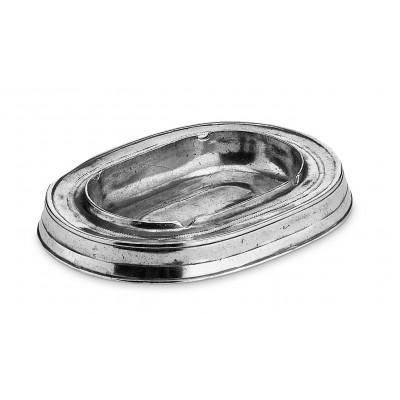 Pewter oval ashtray 13x18 cm