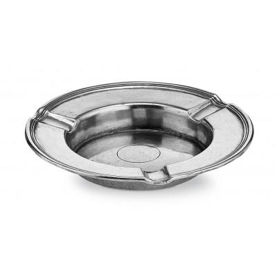Pewter round ashtray