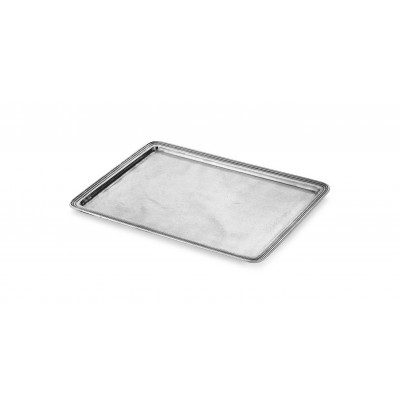Pewter rectangular tray