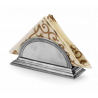 Pewter napkin holder cm 18
