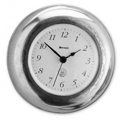 Pewter round wall clock ø cm 19
