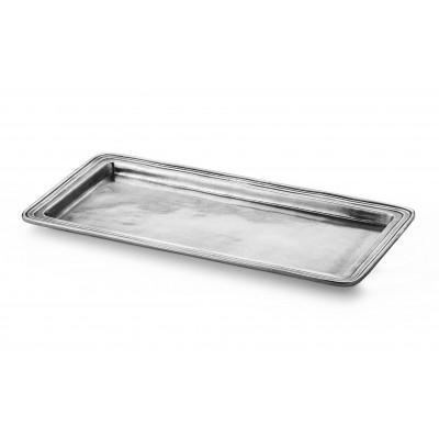 Pewter rectangular vanity tray 15,5x30,5 cm
