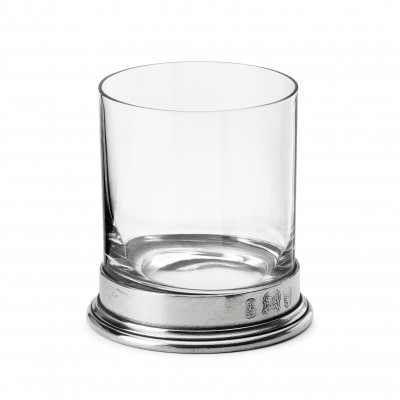 Pewter & glass D.O.F. h 10 cm ø 9 - 33 cl