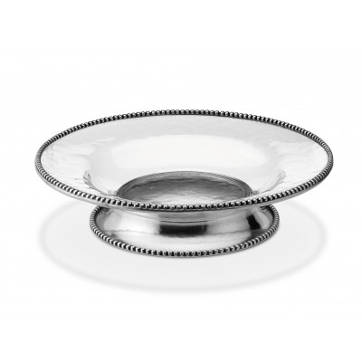 Pewter and glass fruit bowl ø cm 38x9h