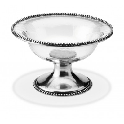 Pewter and glass fruit stand ø cm 27,5x16,5h