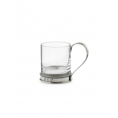 Glass&Pewter mug h 9,5 cm