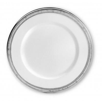 Pewter & ceramic charger ø cm 31
