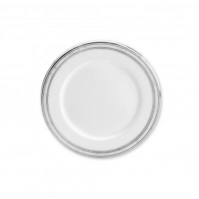 Pewter & ceramic salad/dessert plate ø cm 21