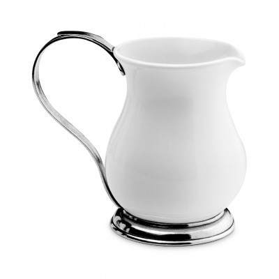 Pewter and ceramic pitcher h cm 19,5