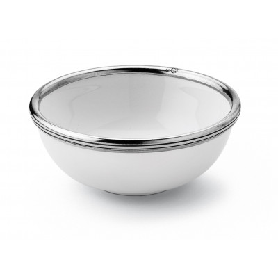 Pewter & ceramic cereal bowl ø cm 16x6 h